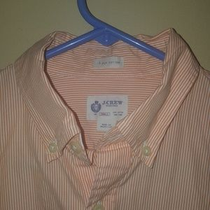 J.Crew Orange Striped Shirt